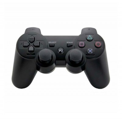 Controller/consola wireless compatibil PS3 DoubleShock, Negru