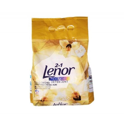 Detergent automat Lenor pudra Gold Orchid Color 2in1, 20 spalari ,2 kg