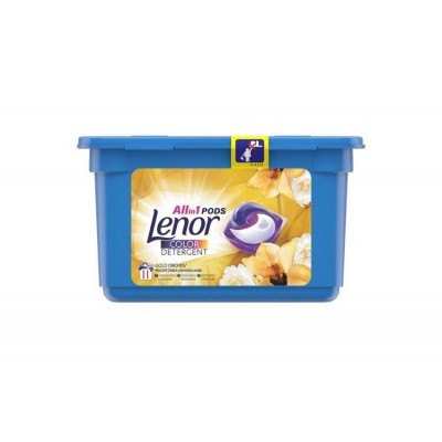 Lenor Detergent Rufe Capsule ALL in1, 11 spalari, Gold Orchid Color