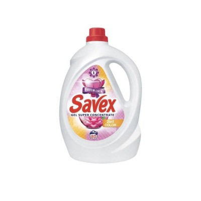 Detergent lichid SAVEX 2IN1 Color, 80 spalari, 4.4 L