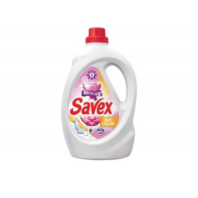 Detergent lichid SAVEX 2IN1 Color, 40 spalari, 2.2 L