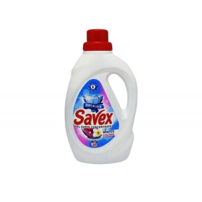 Detergent lichid SAVEX ,White & Colors, 20 spalari, 1.1 L