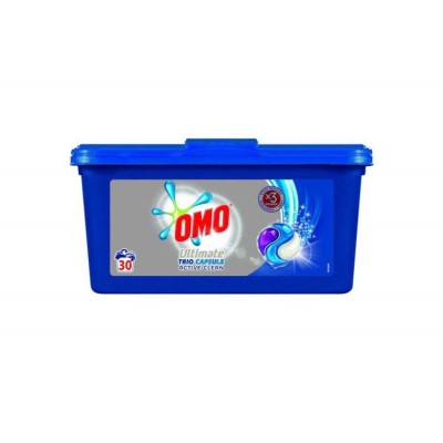 Detergent capsule Omo Ultimate Active Clean Trio Capsule 3in1, 40 spalari