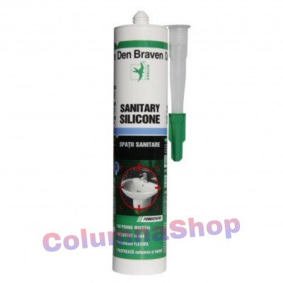 Silicon sanitar alb, Den Braven, interior, 280ml