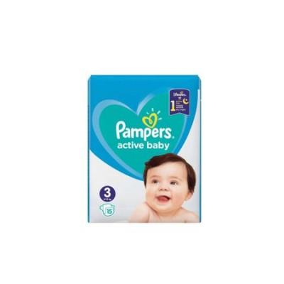 Scutece Pampers Active Baby nr. 3, 6-10 kg, 15 buc